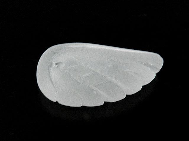 天然石フロストクォーツ 天使の翼 23×12×5mm【1コ販売 300円】ビーズとパワーストーン