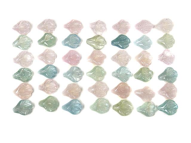 天然石ミックスベリル フラワー No.2【6粒販売 1,500円】ビーズとパワーストーン