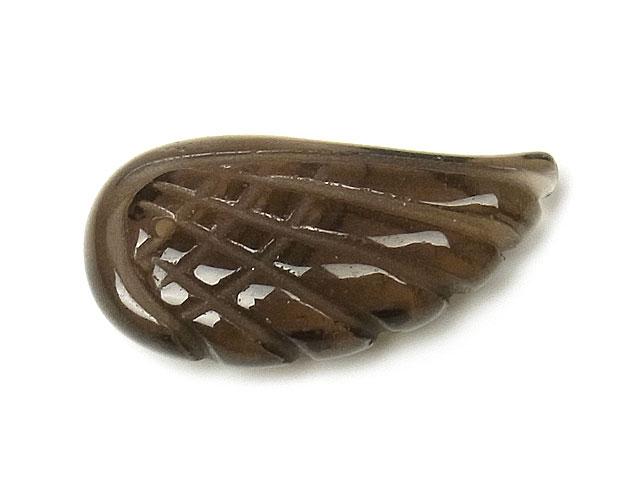 天然石スモーキークォーツ 天使の翼 23×12×5mm【2コ販売 300円】ビーズとパワーストーン