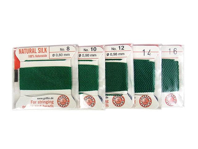 ビーズ天然石グリフィンコード グリーン 0.8mm〜1.05mm【1コ販売 200円】とパワーストーン