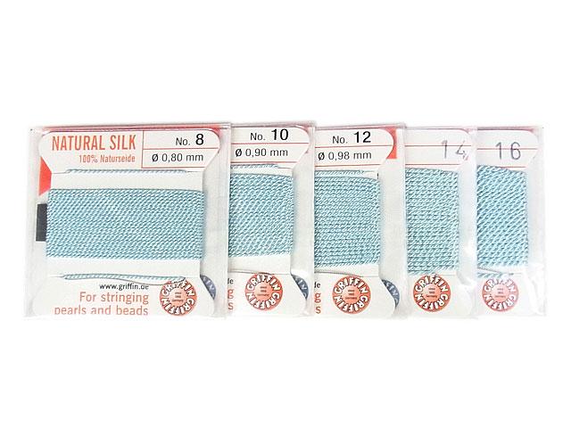 ビーズ天然石グリフィンコード ターコイズ 0.8mm〜1.05mm【1コ販売 200円】とパワーストーン