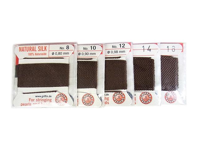 ビーズ天然石グリフィンコード ブラウン 0.8mm〜1.05mm【1コ販売 200円】とパワーストーン