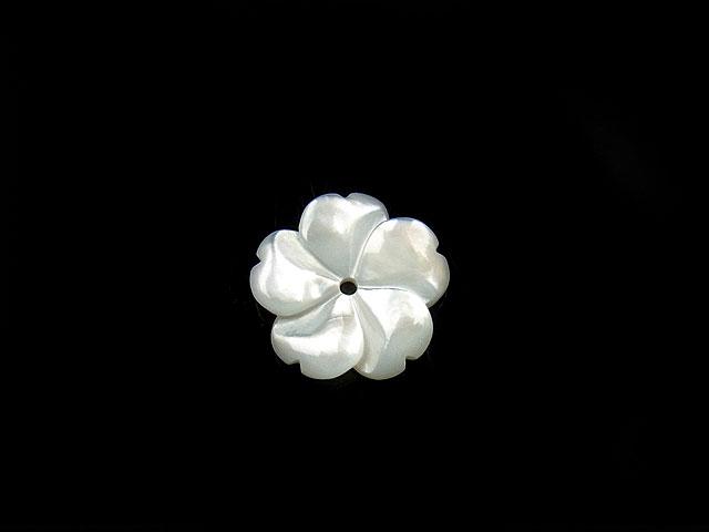 ビーズ天然石【粒販売】ホワイトシェル フラワー 12mm typeA【1コ販売 200円】とパワーストーン