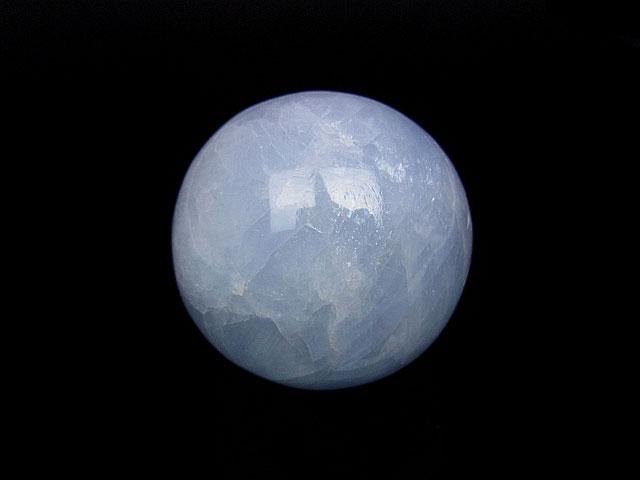 天然石ブルーカルサイト スフィア 40mm【1コ販売 1,400円】ビーズとパワーストーン
