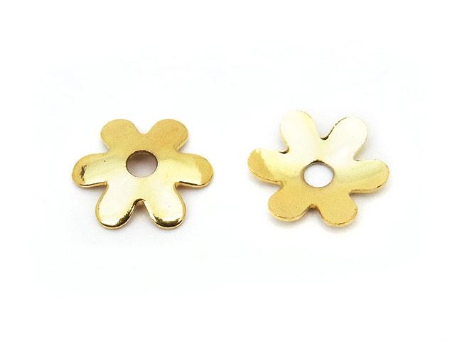 ビーズ天然石花座 type O ゴールド【20コ販売 250円】とパワーストーン