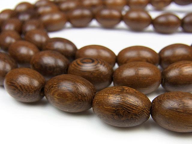 天然石【連販売】[ウッドビーズ]ロブレスウッド ライス 15×10mm【1連 500円】ビーズとパワーストーン