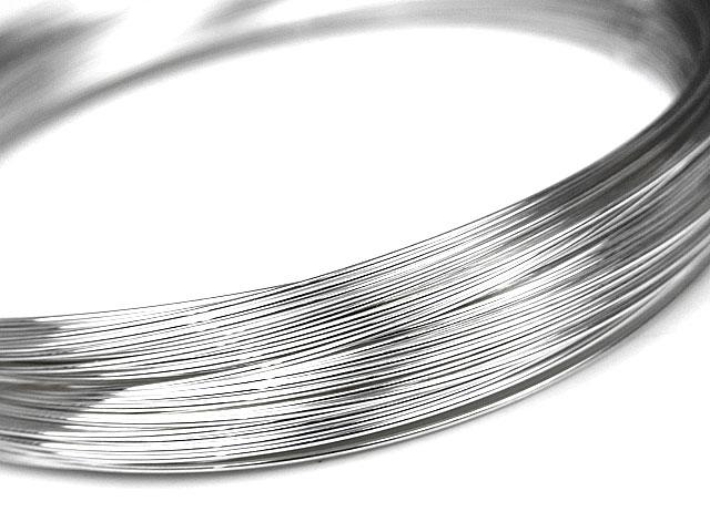 ビーズ天然石SILVER925 ワイヤー[ハーフハード] 24GA(0.51mm)【1m販売 430円〜】とパワーストーン