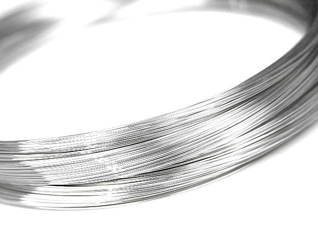 天然石ビーズSILVER925 ワイヤー[ハーフハード] 30GA(0.25mm)【2m販売 210円〜】とパワーストーン
