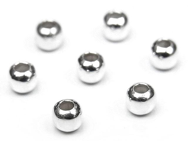 ビーズ天然石SILVER925 ビーズ 丸玉 2mm【10コ販売 100円】とパワーストーン