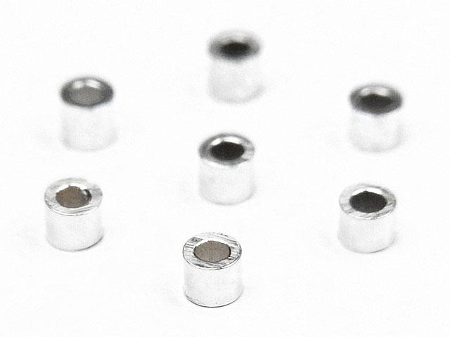 天然石ビーズSILVER925 つぶし玉 1×1mm【40コ販売 160円】とパワーストーン