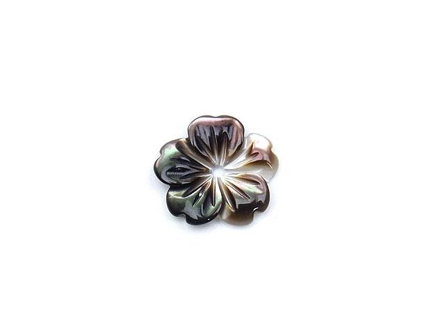 天然石【粒販売】ブラックシェル フラワー 10mm typeC【1コ販売 200円】ビーズとパワーストーン