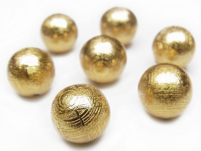 天然石【粒販売】ムオニナルスタ隕石 メテオライト ゴールドカラー 丸玉 10mm【1粒販売 3,980円】ビーズとパワーストーン
