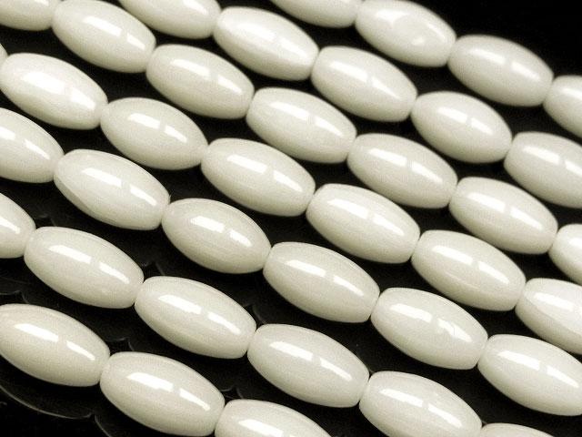 天然石【連販売】ホワイトコーラル(白珊瑚) ライス 7×4mm【1連 700円】ビーズとパワーストーン