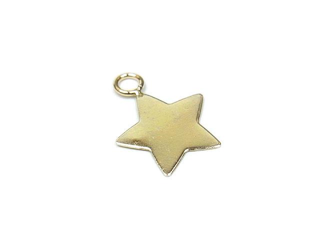 ビーズ天然石14KGF チャーム 星【1コ販売 370円】とパワーストーン