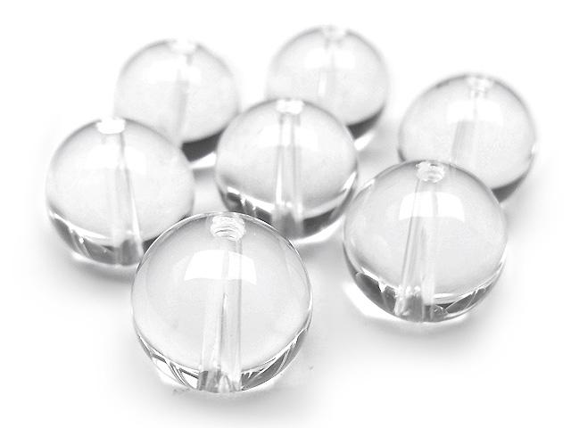 天然石【粒販売】天然水晶 クリスタルクォーツ 丸玉 12mm【5粒販売 450円】ビーズとパワーストーン