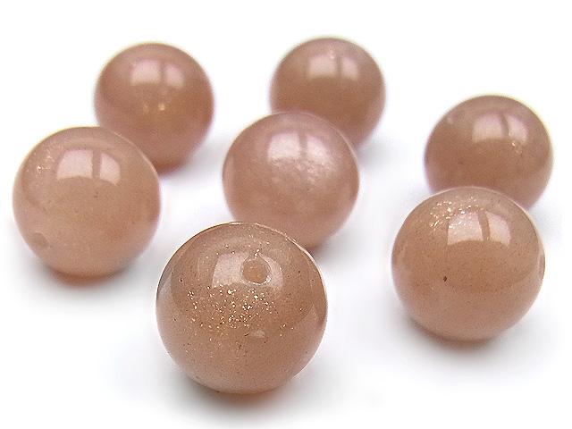 天然石【粒販売】オレンジムーンストーン 丸玉 10mm【4粒販売 560円】ビーズとパワーストーン