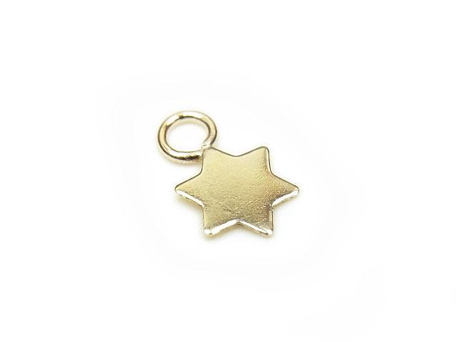 天然石14KGF チャーム 星 No.2【2コ販売 360円】ビーズとパワーストーン
