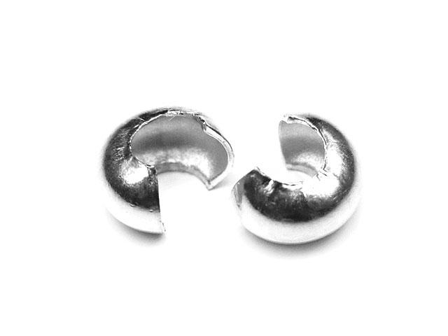 天然石SILVER925 つぶし玉カバー 4mm【5コ販売 260円】ビーズとパワーストーン