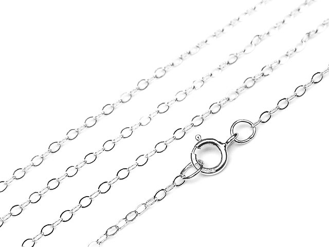 ビーズ天然石SILVER925 ネックレス あずきチェーン 45cm【1コ販売 620円】とパワーストーン