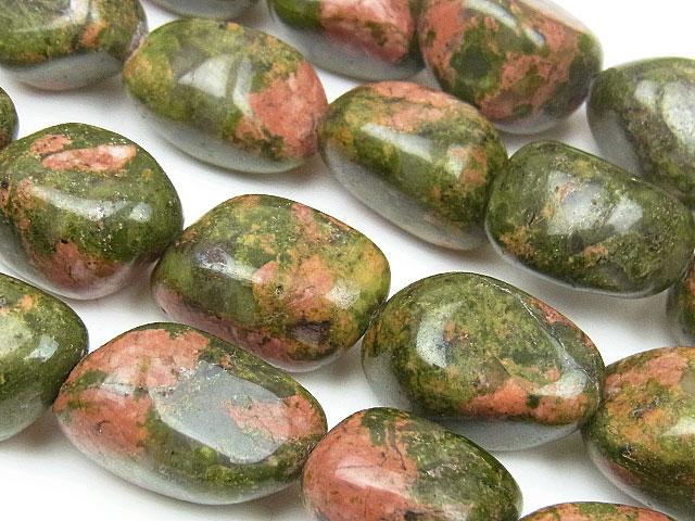 天然石【連販売】ユナカイト ナゲット 12〜20mm【1連 500円】ビーズとパワーストーン