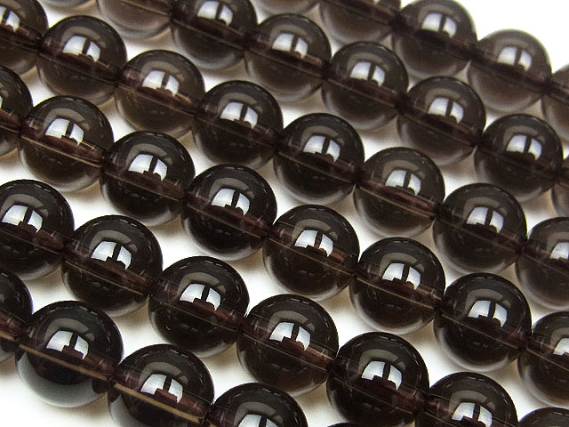 ビーズ天然石【連販売】スモーキークォーツ 丸玉 8mm【1連 1,000円】とパワーストーン