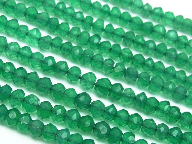 天然石【連販売】グリーンオニキス ボタンカット 4mm【半連 990円〜】ビーズとパワーストーン