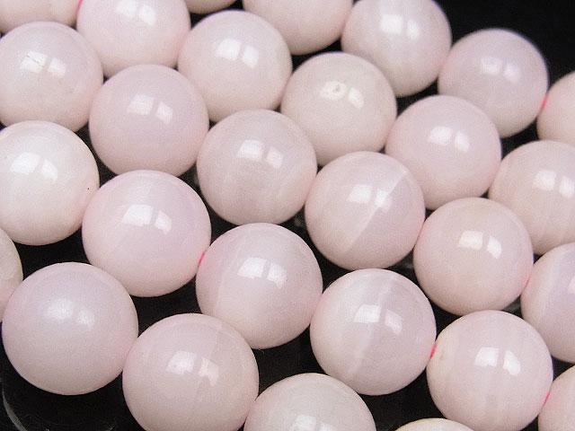 天然石ビーズ【連販売】ピンクカルサイト(マンガノカルサイト) 丸玉 10mm【半連 2,040円〜】とパワーストーン