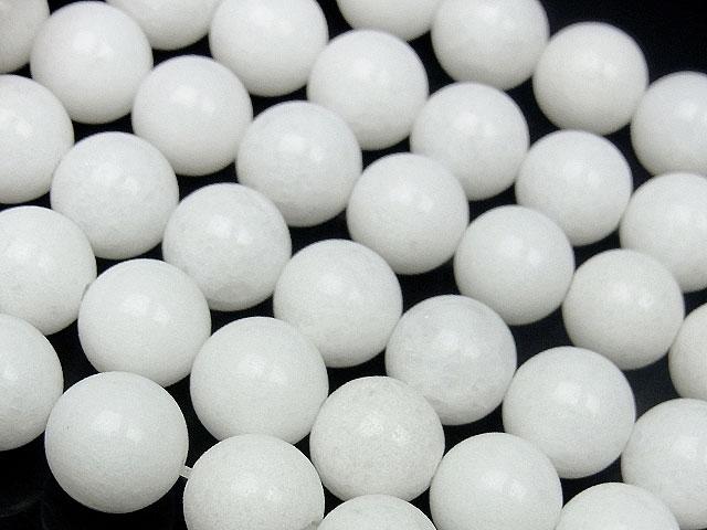 天然石【連販売】ホワイトジェード 丸玉 8mm【1連 700円】ビーズとパワーストーン