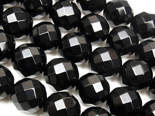 天然石【連販売】オニキス 64面カット 丸玉 10mm【1連 800円】ビーズとパワーストーン