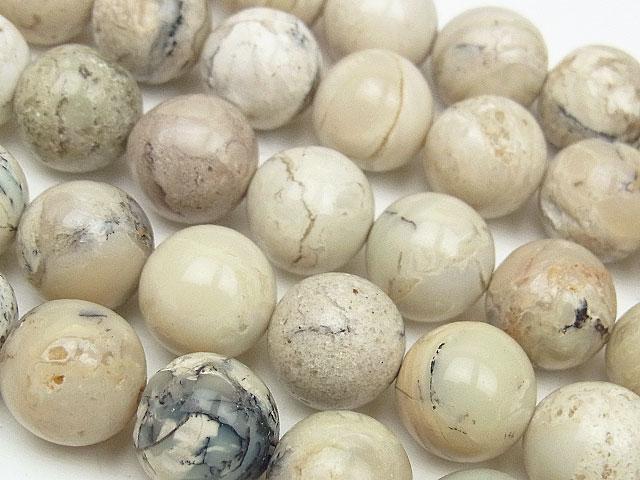 天然石【連販売】アフリカンオパール 丸玉 10mm【1連 1,200円】ビーズとパワーストーン