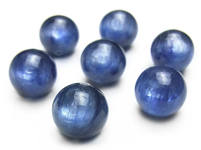 天然石【粒販売】カイヤナイト 丸玉 10mm【3粒販売 2,580円】ビーズとパワーストーン