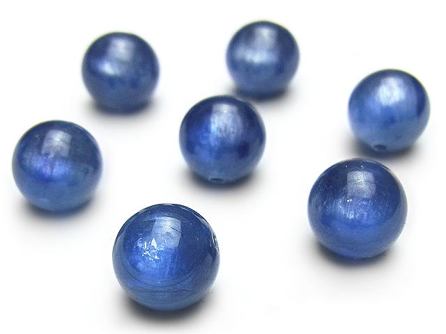 天然石【粒販売】カイヤナイト 丸玉 8mm【4粒販売 3,180円】ビーズとパワーストーン