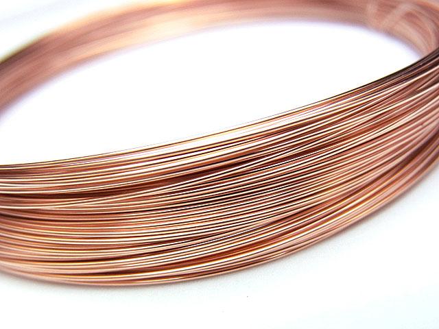 ビーズ天然石14KGF ピンクゴールドカラー ワイヤー[ハーフハード] 22GA(0.64mm)【50cm販売 610円〜】とパワーストーン