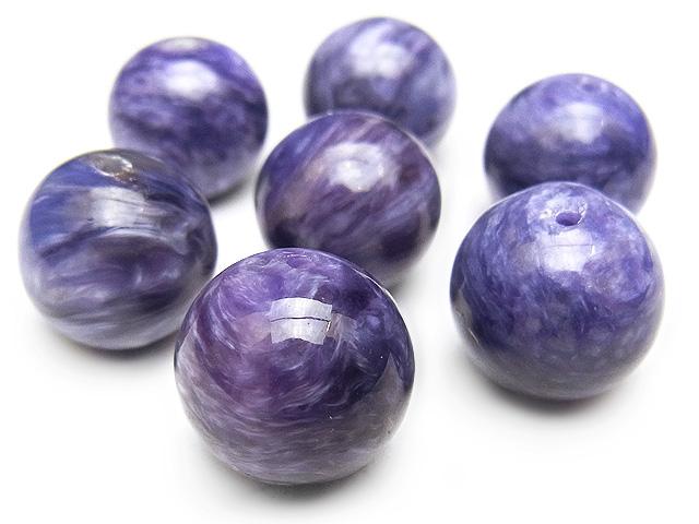 天然石【粒販売】チャロアイト 丸玉 12mm【2粒販売 3,480円】ビーズとパワーストーン