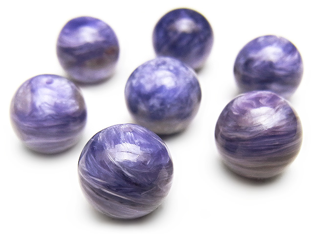 天然石【粒販売】チャロアイト 丸玉 10mm【2粒販売 2,480円】ビーズとパワーストーン