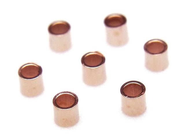 ビーズ天然石14KGF ピンクゴールドカラー つぶし玉 2×2mm【15コ販売 280円】とパワーストーン