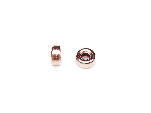 ビーズ天然石14KGF ピンクゴールドカラー ロンデル 3mm【5コ販売 200円】とパワーストーン